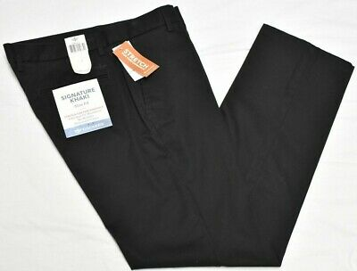 Dockers Pants Men Best Pressed Signature Khaki Slim Fit Stretch Chino Black