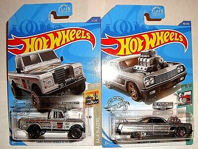 2020 HOT WHEELS ZAMAC​ LOT OF 2 - '64 IMPALA & LAND ROVER CARS WALMART EXCLUSIVE