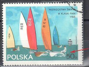 Poland 1965 - Finn Class Yachts - error Mi. 1589 - used - <span itemprop=availableAtOrFrom>Cieszyn, Polska</span> - Poland 1965 - Finn Class Yachts - error Mi. 1589 - used - Cieszyn, Polska