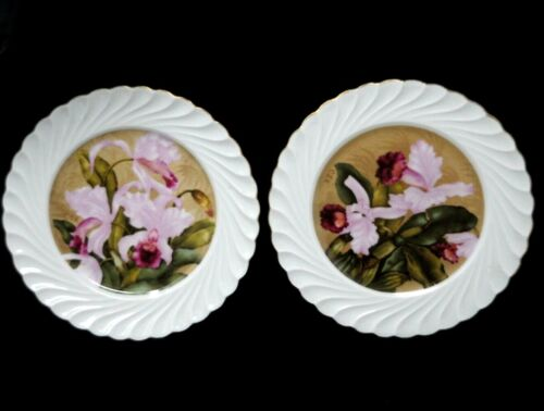 """Haviland Limoges 2 Plates  D.A.R. Daughters of American Revolution SIGNED 5 1/8"""""""
