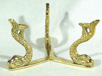 One Large Very Sturdy! Gold Colored Sphere Globe Ball Egg DOLPHIN Display Stand (Gold Eggs)