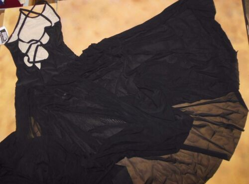 NW/def  Ballroom Lyrical Contemporary Dress Black Extra Large adult strappy back