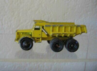 Vintage Lesney Matchbox Dump Truck #6 A Euclid Yellow England