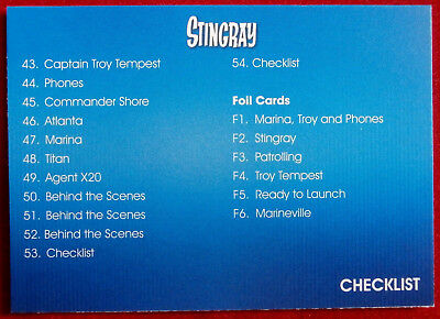STINGRAY - CHECKLIST B - Card #54 - Gerry Anderson Collection - Unstoppable 2017