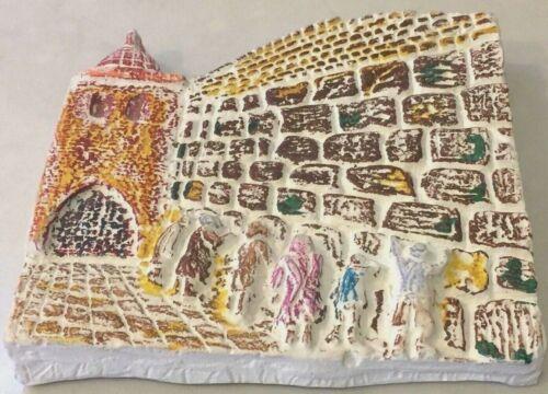 Vintage Jewish Western Wailing Wall Folk Art Judaica Judaism Israel Plaster