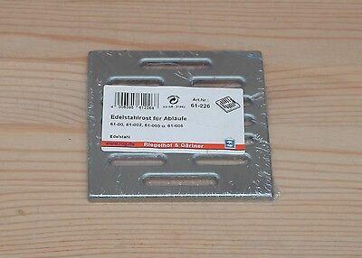 RuG Edelstahlrost für Abläufe 10x10 cm
