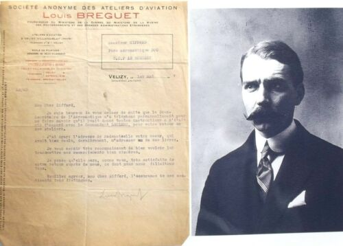 Louis Breguet 1st Flew 1909 French Aircraft Builder Designer Signed Leter Rare