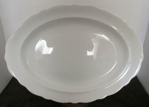 "ANTIQUE WARWICK CHINA WHITE IRONSTONE LARGE 17 1/2"" X 13"" PLATTER"