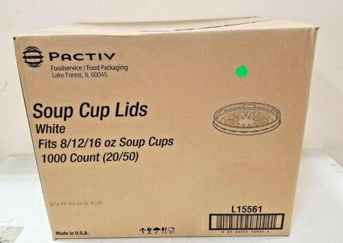 PACTIV CORP L15561 Soup Cup Lids White 1000/case