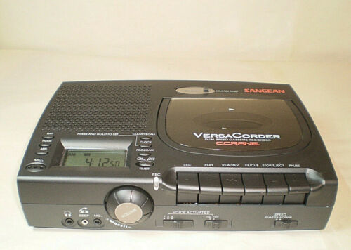 Sangean Versa Corder Dual Speed Cassette Recorder Voice Activated Tested Works