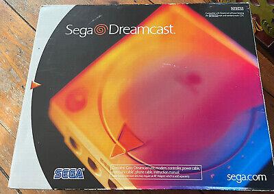 Sega Dreamcast Launch Edition White Console (NTSC) W/Original Box.