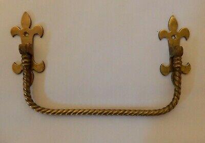Antique Victorian Brass Gothic Umbrella/Stick Holder Rack Towel Rail #IM275