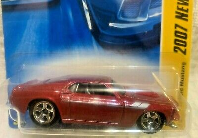 Hot Wheels 2007 - NEW MODELS - '69 FORD MUSTANG - RED - 5 SPOKE - NEW - VHTF