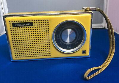 PANASONIC R-1241 AM TRANSISTOR RADIO MADE IN JAPAN 1968 mid century modern AS IS