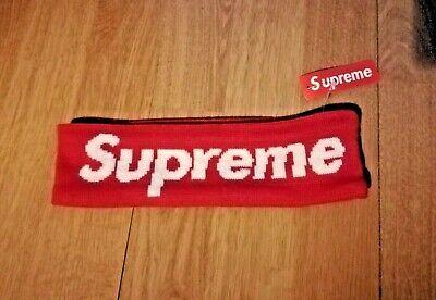 Supreme Headband New Era ~ Red ~ Brand New & Original ~ UK Seller