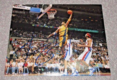 *SLAM DUNK* Jermaine O'Neal Signed Indiana Pacers 11x14 Photo PROOF COA