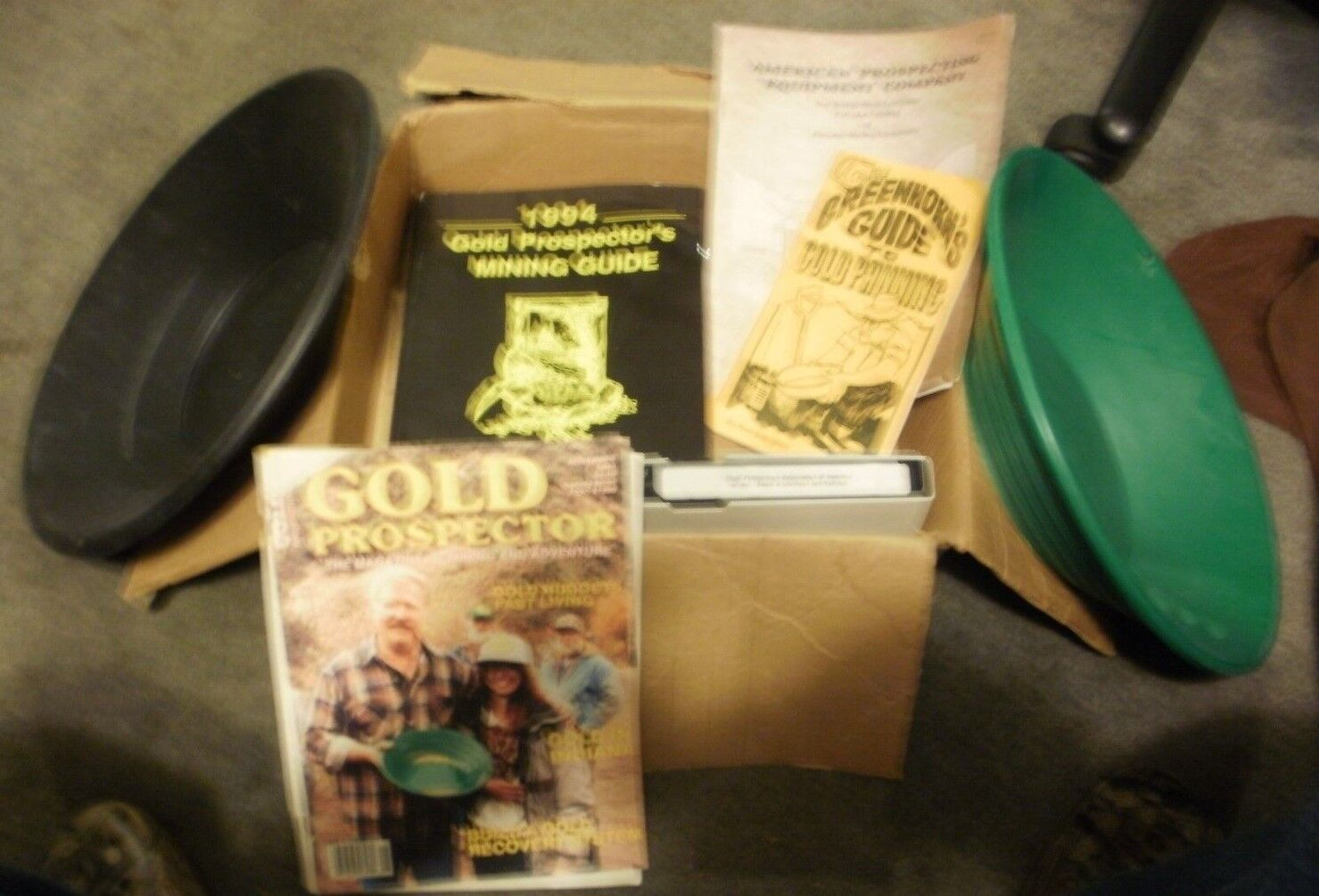 Black Gold Pan, Green Gold Pan, 1994 Gold Prospector Mining Guide, Video & More!