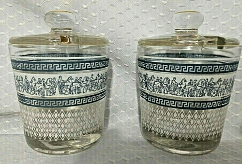Jeanette Patrician Condiment Container With Lids Set Of 2 or High Ball Glasses