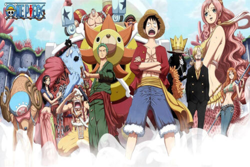 Poster One Piece Luffy Zoro Japan Anime Room Club Wall Cloth Print 16
