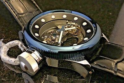 Invicta 24596 Russian Diver Ghost Bridge Blue Automatic Skeleton Exhibitin Watch