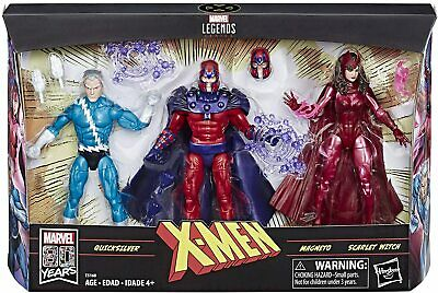 "Marvel Legends Series 6"" Family Matters 3 Pack. Magneto, Quicksilver, & Scarlett"