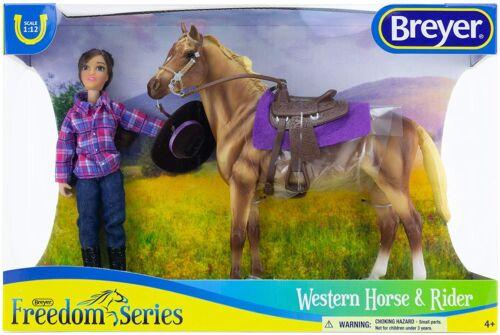 Breyer  (Classics) Western Horse & Rider Doll Set (1:12 Scale)  61116 <><