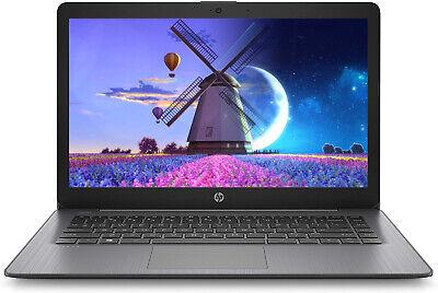 """NEW HP Stream 14"""" HD Intel N4000 4GB RAM 32GB eMMC Black + 1-year Office 365"""