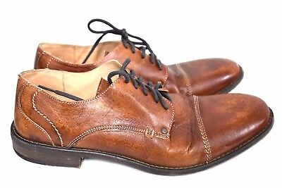 BED STU MEN'S BESSIE TAN DRIFTWOOD LEATHER OXFORDS SHOES SIZE 11