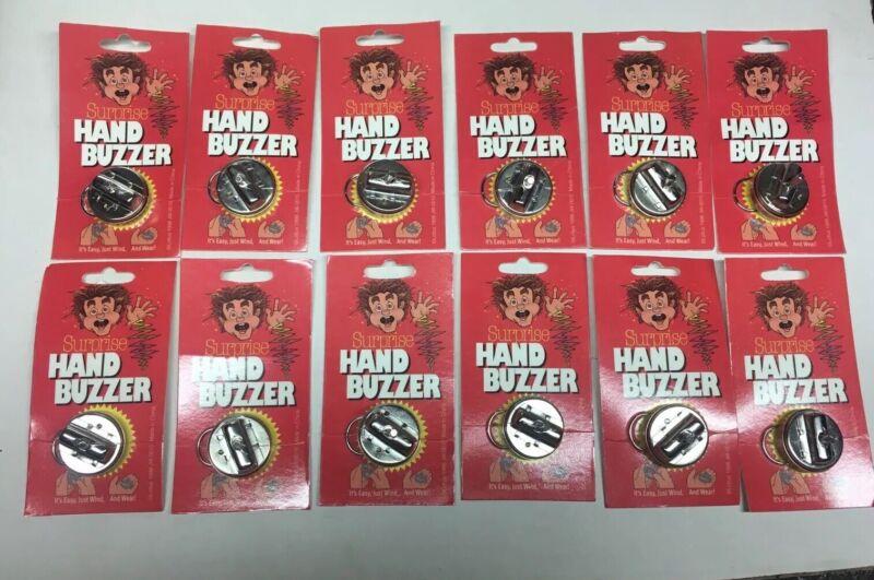 New 12 WIND UP METAL HAND BUZZERS CLASSIC JOKE GAG MAGIC LOT