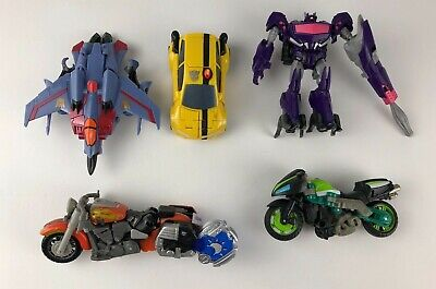 Lot of 5 Transformers Figures Bumblebee Starscream Knock-Out Lugnutz & Shockwave