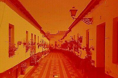 TU13 ORIGINAL KODACHROME 1970s 35MM SLIDE SPAIN MALAGA CALLE BLAS PALOMO PATIO