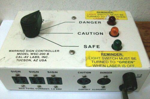 CAL-AV LABS INC WSC-200B Controller For Illuminated Laser Warning Signs