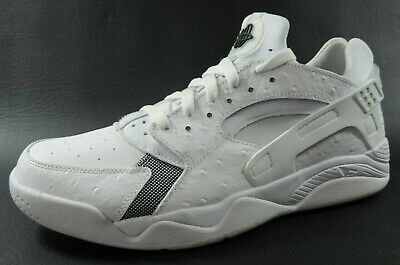 Nike Air Flight Huarache Low 819847 100 Mens Shoes Trainers Leather White Rare