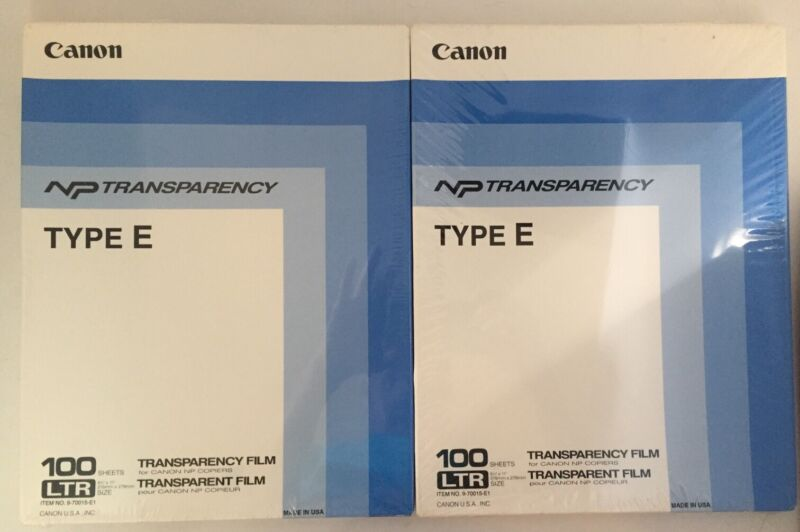 Canon NP Transparency Type E 100 Sheets 2 Packs