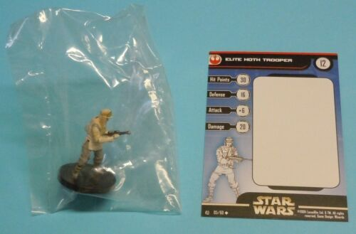Star Wars Miniatures Elite Hoth Trooper #05/60 NEW NIB SWM Rebel Storm