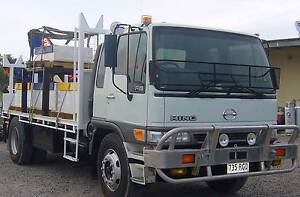 2000 Hino Crane Truck with Pig Trailer & Double Stacker Harlin Somerset Area Preview