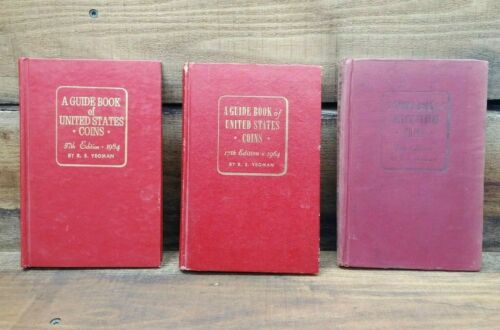 A Guide Book Of United States Coins 7th Edition 1954-1955 - Lot of 3 Red Books