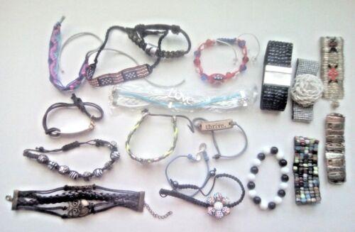 Bracelets. REDKEN magnetic, Rm, Love, bands, glass beads, gemstones, rhinestones