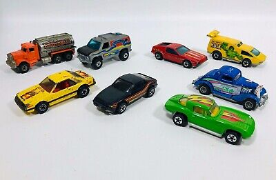 1970'S HOT WHEELS DIECAST CAR TRUCK LOT OF 8 HONG KONG MALAYSIA FORD CHEVY