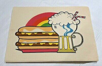 Vintage 1966 Scott Family Table Placemats Paper Disposable 24 pack burger/drink