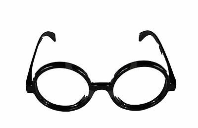 Round Glasses Nerd Style Black Geek Wizard Black Book Day Week Red And white