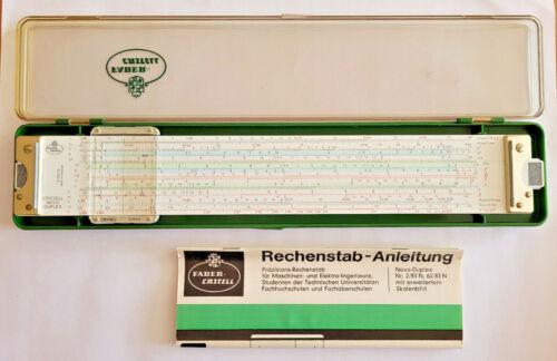 Vintage A.W. Faber-Castell 2/83 N Novo Duplex Slide Rule with Case Germany #2