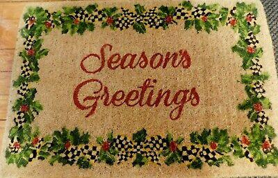MACKENZIE-CHILD'S COIR SEASONS GREETINGS  CHRISTMAS ENTRANCE DOOR MAT,NEW ()