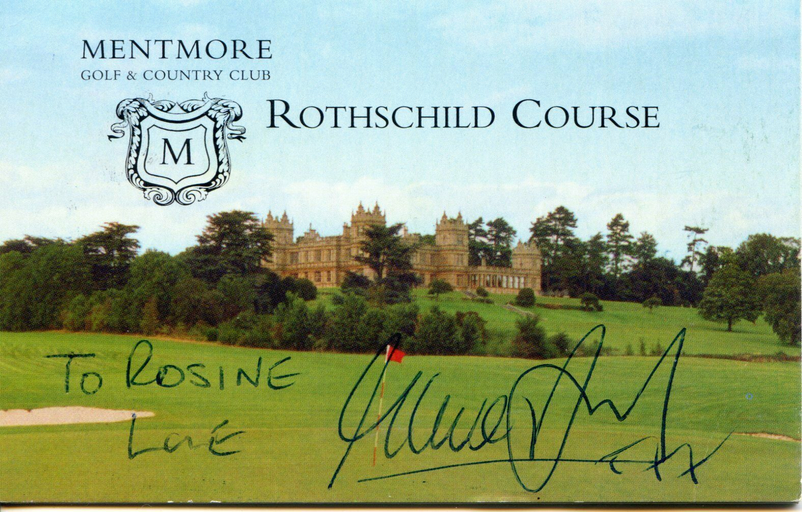 Steve Davis Signed Golf Card
