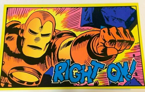 "1971 VINTAGE MARVEL COMICS BLACKLIGHT POSTCARD THE THIRD EYE -NICE, 6x9.25"" #157"