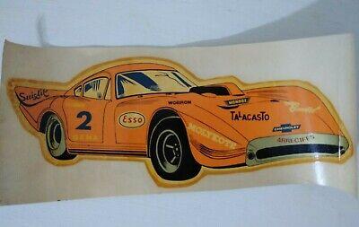 "VINTAGE CHEVROLET SPORT RACE CAR BIG WATER DECAL 11.5"" ARGENTINA 1970"