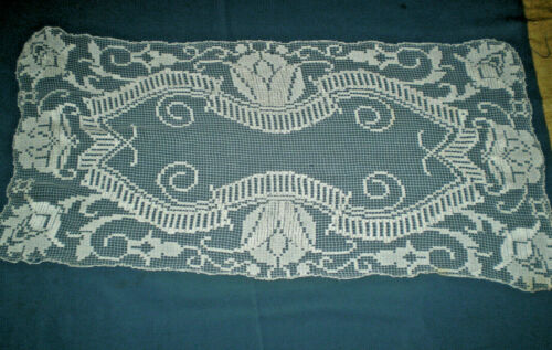 Antiques 1920 s Vintage needle  lace Table  Runners