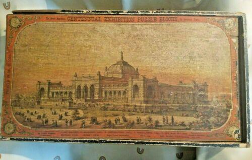 RARE ANTIQUE 1876 WORLDS FAIR PHILADELPHIA CENTENNIAL EXHIBITION WOOD PUZZLE