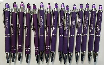 Purple 15 Piece Misprint Bulk Lot Metal Soft Touch Alpha Stylus Click Pen