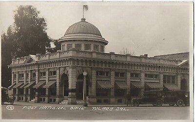 First National Bank Tulare  California Rppc C  1920